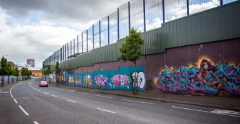 Belfast still has Peace Lines erected with borders closed at weeeds