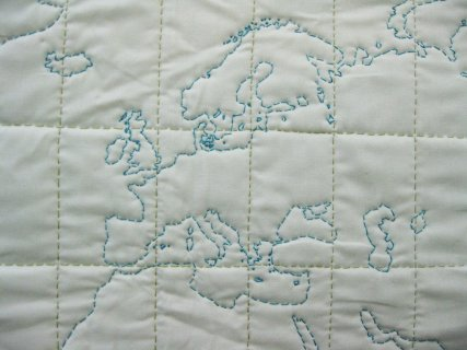 I sew and have created a world map quilts